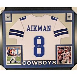 Troy Aikman Signed Cowboys 35x43 Custom Framed Jersey (JSA COA)