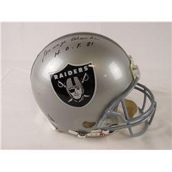 "George Blanda Signed Raiders Full-Size Authentic On-Field Helmet Inscribed ""H.O.F. 81"" (JSA LOA)"