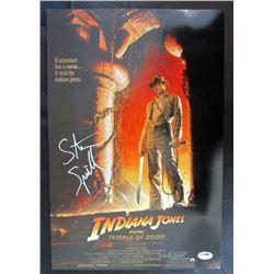 """Steven Spielberg """"Indiana Jones: Temple of Doom"""" 11x17 Movie Poster (PSA Hologram)"""