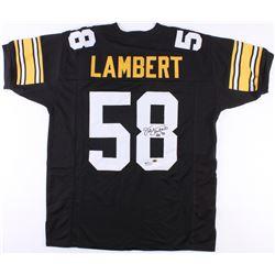 "Jack Lambert Signed Steelers Jersey Inscribed ""HOF 90"" (JSA COA  Radtke COA  Lambert Hologram)"
