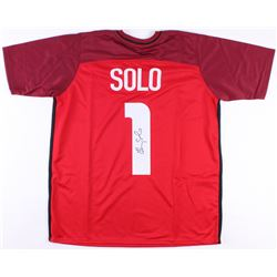 Hope Solo Signed Team USA Soccer Jersey (JSA Hologram)