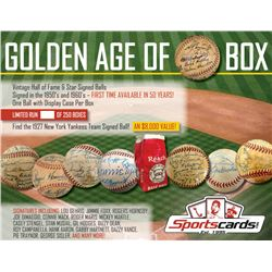 """Golden Age of Baseball"" Vintage Hall of Fame  Star Signed Baseball Mystery Box"