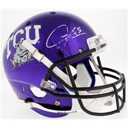 LaDainian Tomlinson Signed TCU Horned Frogs Custom Purple Chrome Full-Size Helmet (Radtke COA  Tomli