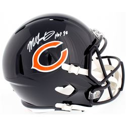 "Mike Singletary Signed Bears Full-Size Speed Helmet Inscribed ""HOF 98"" (Beckett COA)"
