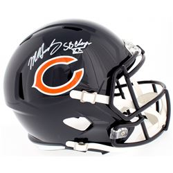 "Mike Singletary Signed Bears Full-Size Speed Helmet Inscribed ""SB XX Champs"" (Beckett COA)"
