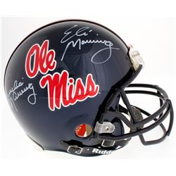 Eli Manning  Archie Manning Signed Ole Miss Rebels Full-Size Authentic On-Field Helmet (Radtke COA)