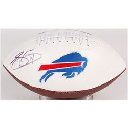 Sammy Watkins Signed Bills Logo Football (JSA COA)