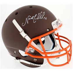 Nick Chubb Signed Browns Custom Matte Brown Full-Size Helmet (Radtke COA)