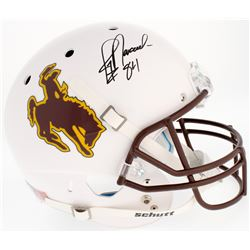 Jay Novacek Signed University of Wyoming Cowboys Full-Size Helmet (Radtke COA)