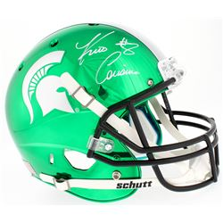 Kirk Cousins Signed Michigan State Spartans Custom Green Chrome Full-Size Helmet (Beckett COA)