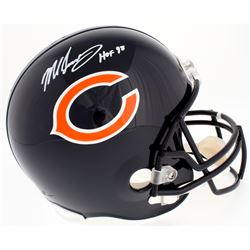 "Mike Singletary Signed Bears Full-Size Helmet Inscribed ""HOF 98"" (Beckett COA)"
