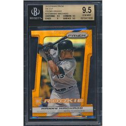 2013 Panini Prizm Prizms Orange Die-Cut #233 Manny Machado RC (BGS 9.5)