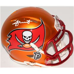 Jameis Winston Signed Buccaneers Blaze Speed Mini Helmet (Beckett COA  Winston Hologram)