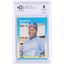 1987 Fleer Glossy #369 Bo Jackson (BCCG 9)