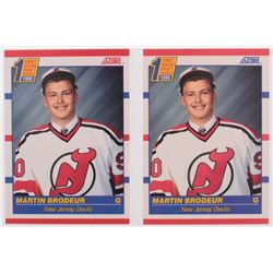 Lot of (2) Martin Brodeur Hockey Cards with #439 Martin Brodeur RC  Canadian #429 Martin Brodeur RC