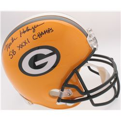 "Mike Holmgren Signed Packers Full-Size Helmet Inscribed ""SB XXI Champs"" (JSA COA)"