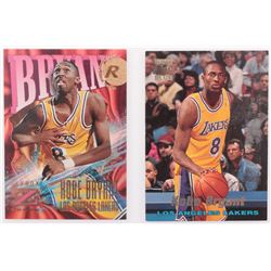 Lot of (2) Kobe Bryants Basketball Cards with #R12 Kobe Bryant  #142 Kobe Bryant RC