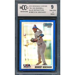 2010 Bowman Chrome 18U USA Baseball Blue Refractors #18BC10 Manny Machado (BCCG 9)
