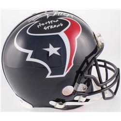 "J.J. Watt Signed Texans Full-Size Authentic On-Field Helmet Inscribed ""Houston Strong"" (JSA COA  Wat"