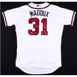 "Greg Maddux Signed Braves Jersey Inscribed ""HOF 14"", ""95 WS Champs""  ""92-95 Cy"" (Radtke COA)"