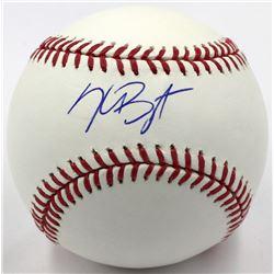 Kris Bryant Signed OML Baseball (Fanatics Hologram  MLB Hologram)