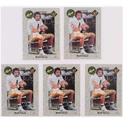 Lot of (5) 1991 Classic #30 Brett Favre