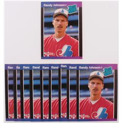 Lot of (10) 1989 Donruss #42 Randy Johnson RC