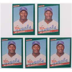 Lot of (5) 1986 Donruss Rookies #38 Bo Jackson