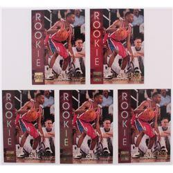 Lot of (5) 1996-97 Stadium Club Rookies 2 #R16 Allen Iverson