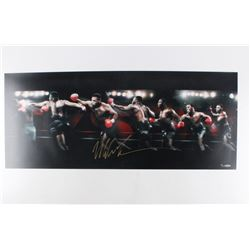 "Mike Tyson Signed ""Round House"" 15x36 Limited Edition Photo (UDA COA)"