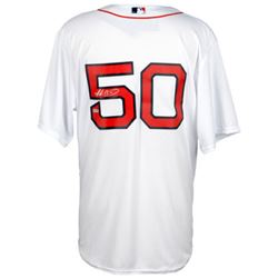 Mookie Betts Signed Red Sox Authentic Majestic Jersey (Fanatics Hologram)