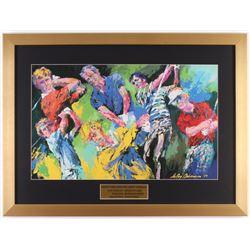 "LeRoy Neiman ""Golfs Greatest"" 18x24.5 Custom Framed Print Display"