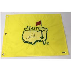 Tiger Woods Signed 1997 Masters Golf Pin Flag (UDA COA)
