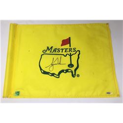 Tiger Woods Signed Tournament-Used 2001 Masters Golf Pin Flag with Range-Used Golf Ball (UDA COA)