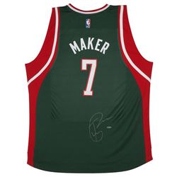 Thon Maker Signed Bucks Adidas Jersey (UDA COA)