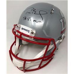 "Tom Brady Signed Patriots Super Bowl 51 Authentic On-Field Speed Helmet Inscribed ""SB 51 MVP"" (Stein"
