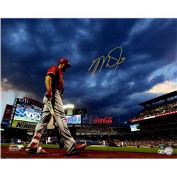 """Mike Trout Signed Angels """"Clouds at City Field"""" 16x20 Limited Edition Photo (Steiner COA  MLB Hologr"""