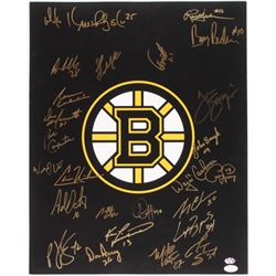Boston Bruins Legends 16x20 Photo Signed by (25) With Adam Oates, Gerry Cheevers, Johnny Bucyk, Bobb