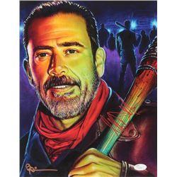 """Jeffrey Dean Morgan Signed """"The Walking Dead"""" 11x14 Photo (JSA COA)"""