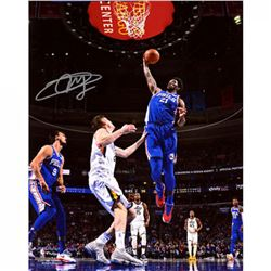 Joel Embiid Signed 76ers 16x20 Photo (Fanatics Hologram)