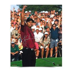 """Tiger Woods Signed """"2001 Masters"""" 20x24 Photo (UDA COA)"""