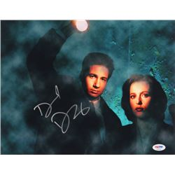 """David Duchovny Signed """"The X-Files"""" 11x14 Photo (PSA Hologram)"""