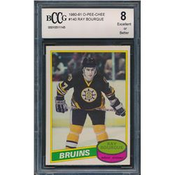 1980-81 Topps #140 Ray Bourque RC (BCCG 8)