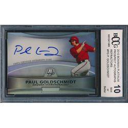 2010 Bowman Platinum Prospect Autographs Refractors #PG Paul Goldschmidt (BCCG 10)