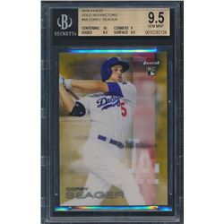 2016 Finest Gold Refractors #58 Corey Seager RC (BGS 9.5)