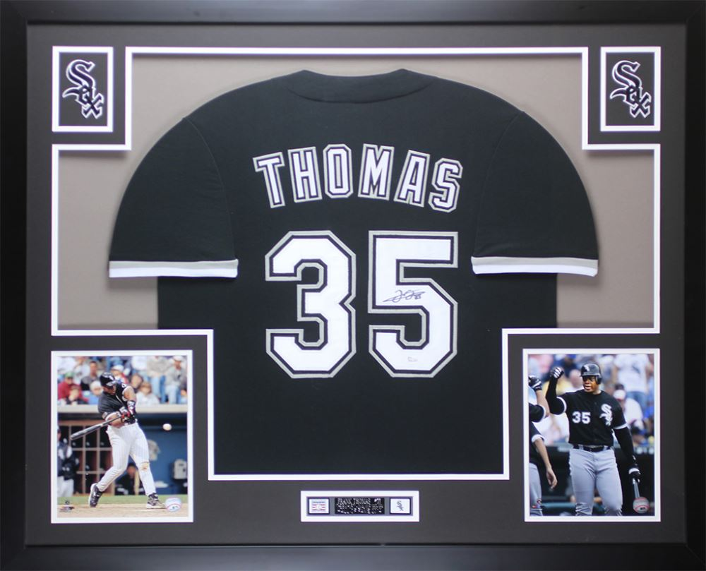 new concept 4167f a2b38 Frank Thomas Signed White Sox 35x43 Custom Framed Jersey