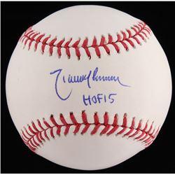 """Randy Johnson Signed OML Baseball Inscribed """"HOF 15"""" (JSA COA)"""