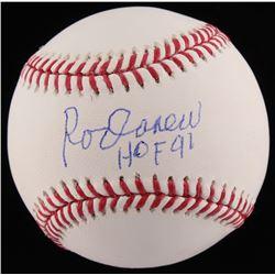 Rod Carew Signed OML Baseball Inscribed  HOF 91  (JSA COA)