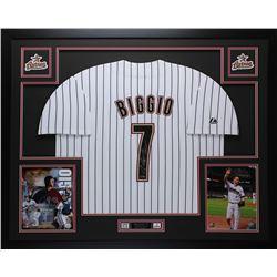 Criag Biggio Signed Astros 35x43 Custom Framed Jersey (TriStar Hologram)