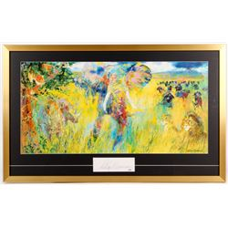 "LeRoy Neiman ""The Big Five"" 26x42 Custom Framed Cut Display (PSA COA)"